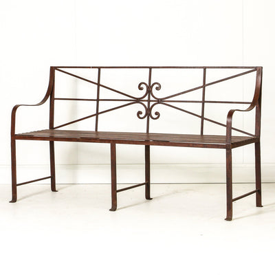 IFU0819-08 Indian Iron Bench