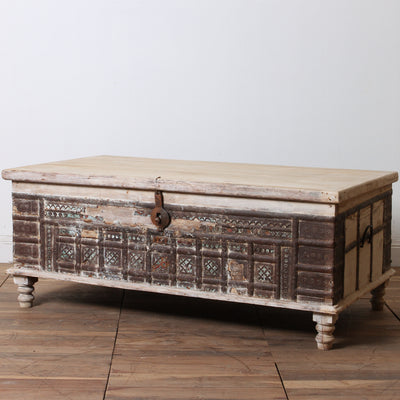 IFU0917-45 Vintage Indian Chest Coffee Table
