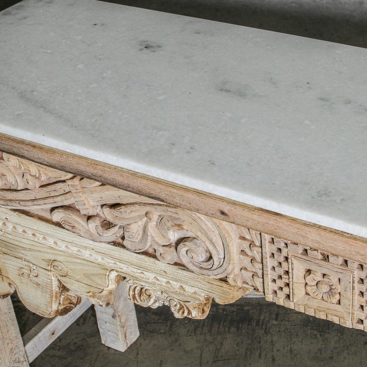IFU0920-47 Vintage Indian Console with Marble Top