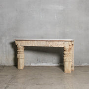 IFU1220-39 Vintage Indian Console with Marble Top