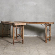 IFU1220-81 Vintage Indian Tent Table Natural
