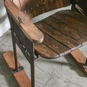 IFU1220-80 Vintage Indian 3 Chair Bench