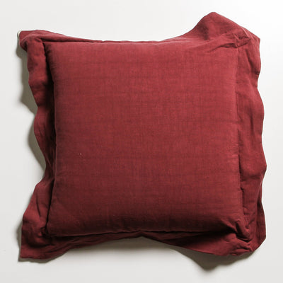 Calais Cushion - Burgundy