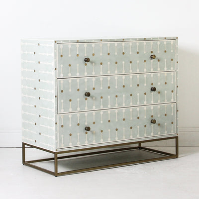 Sprout Bone Inlay Chest on Brass Legs