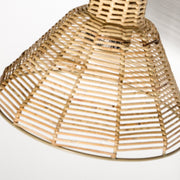 Lagoon Rattan Wall Lamp - Brass