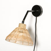 Lagoon Rattan Wall Lamp - Black