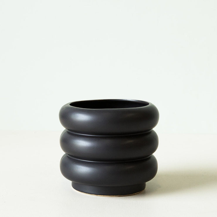 Gabriel Pot - Matt Black - Large