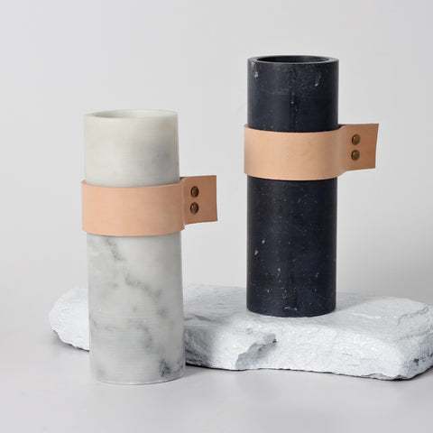 Strapped Marble Vessel - Tall