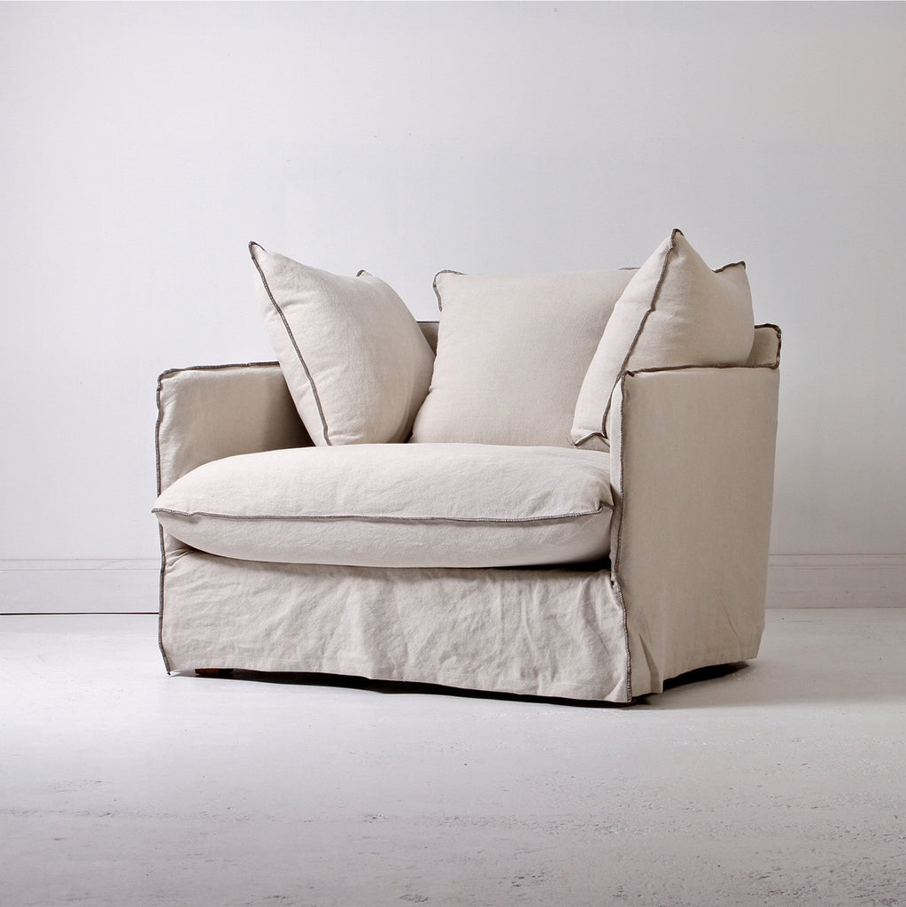 Moka Love Seat - Birch