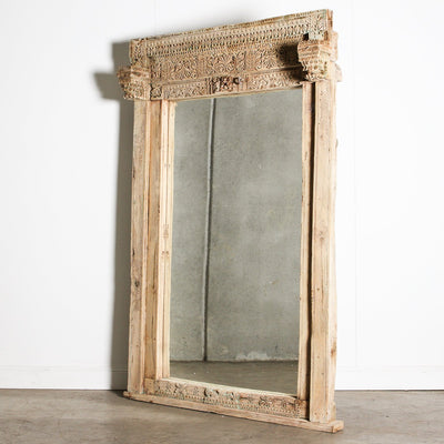 IMIR0920-01 A Old Indian Door Frame Mirror