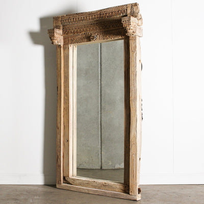 IMIR0920-01 B Old Indian Door Frame Mirror