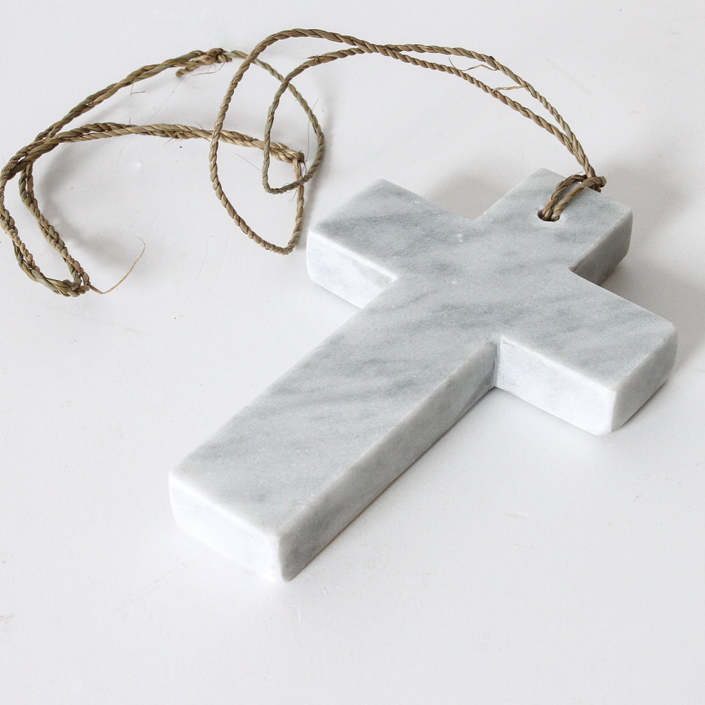 White Marble Cross