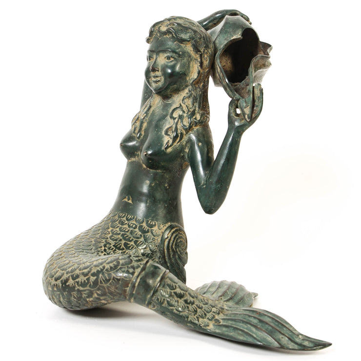 Bronze Sitting Mermaid