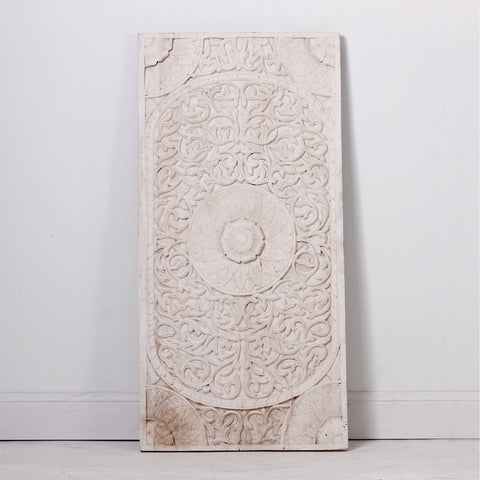 IL-WALL-30A White Wooden Wall Panel