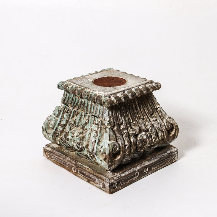 IDE1118-09 Vintage Indian Capital Candlestand