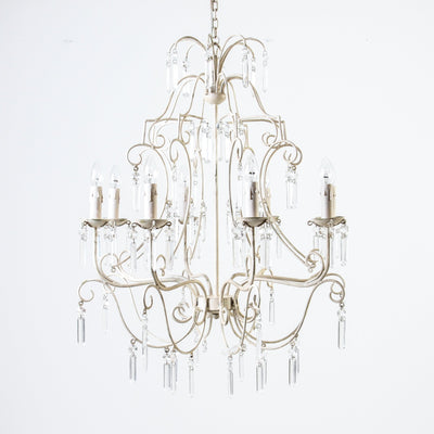 Prairie Chandelier Antique White