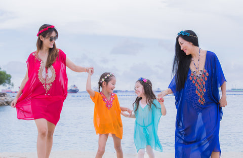 Beach Photoshoot of Clare Couture Caftans