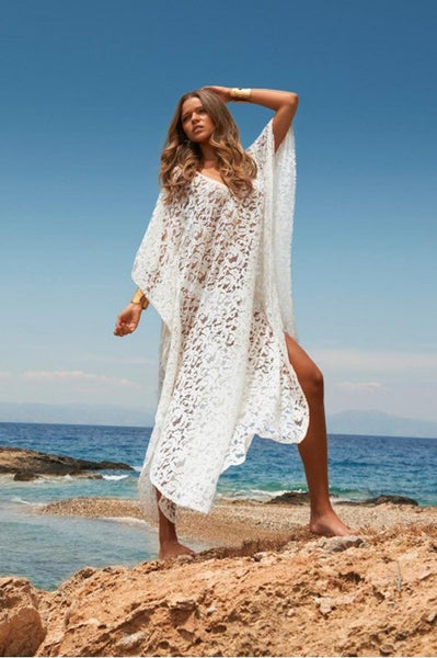 White Lace Cover-up