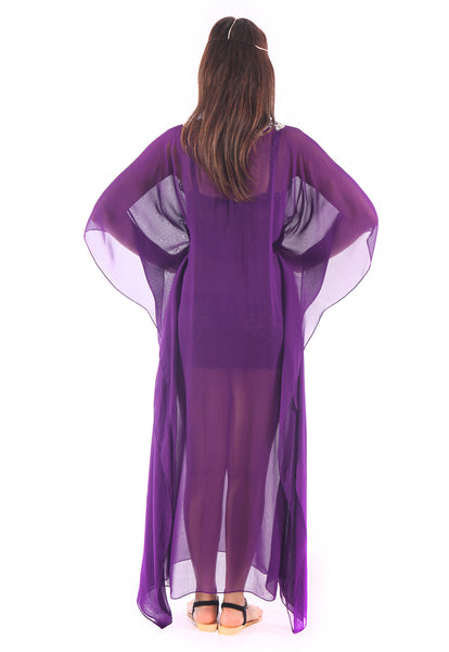 Celestina Royal Purple Maxi Caftan