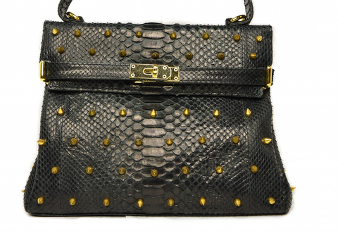 Tribeca Black with Gold Studs