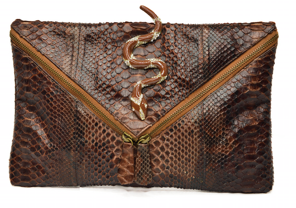 Ava Bejeweled Brown Snake
