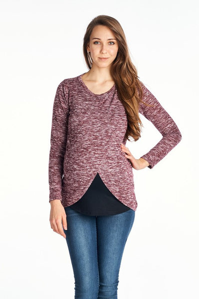 Crossover Maternity/Nursing Sweater