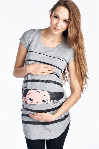 Peek A Boo Maternity Top