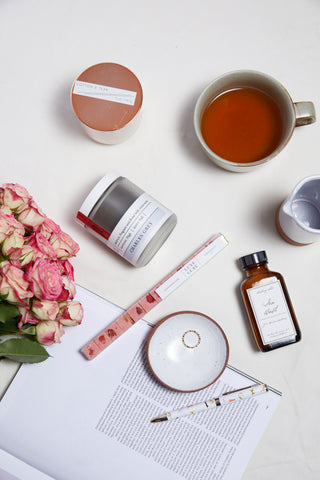 Velntine's Flat Lay Tea Time