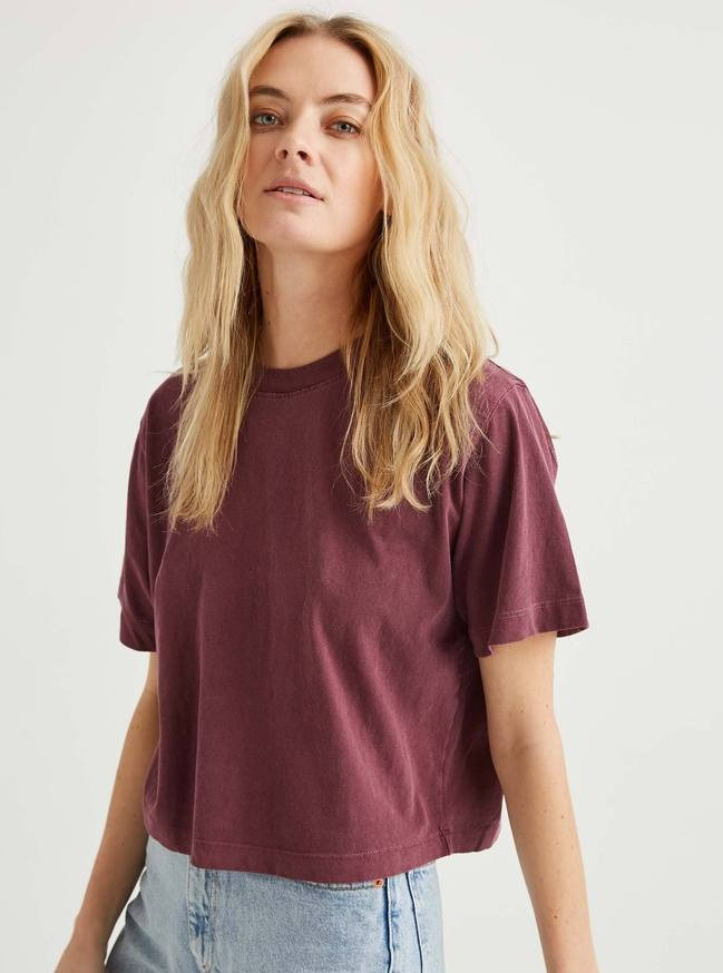 Relaxed Crop Tee-Picnic-sf