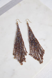 Metallic Long Fringe Earring - P I C N I C