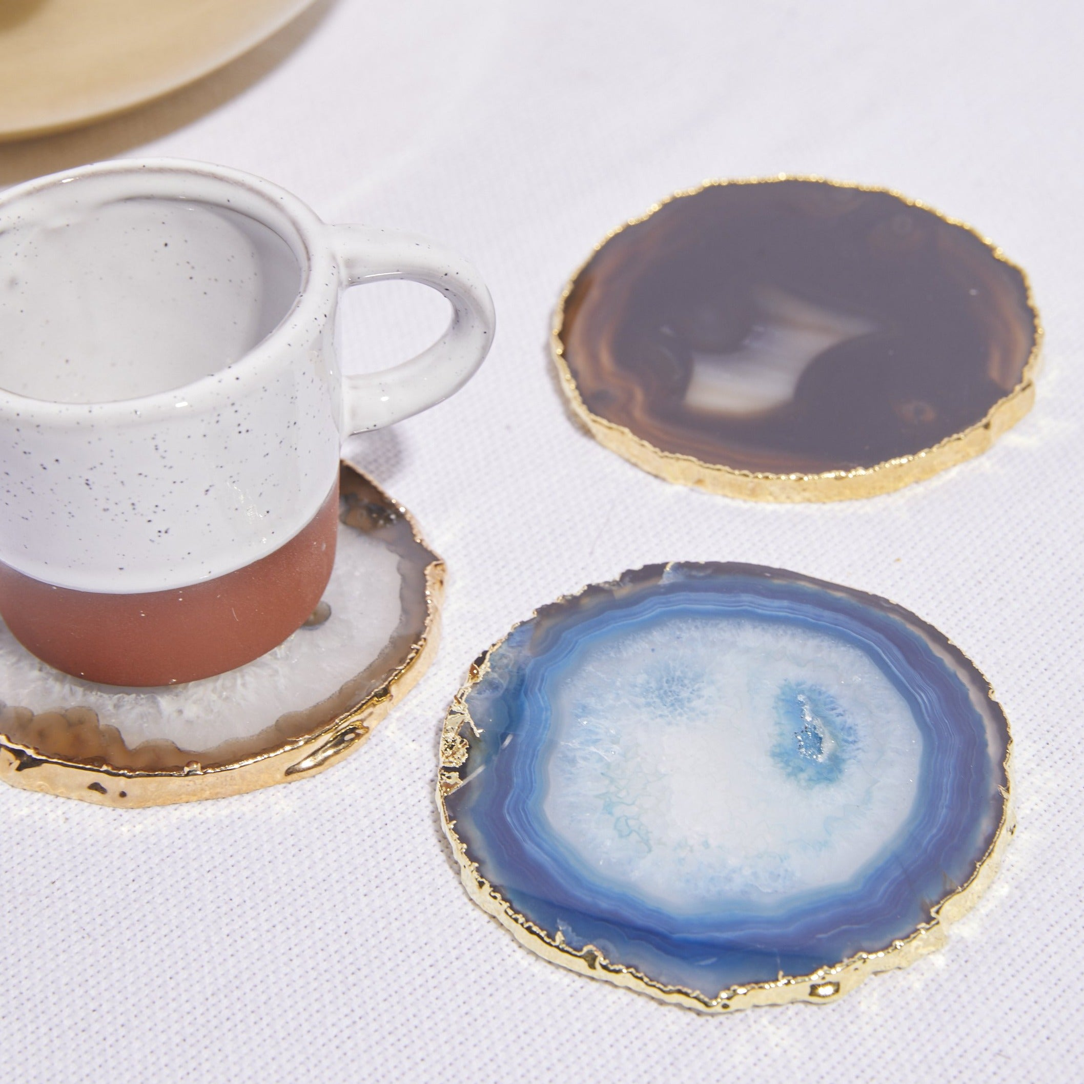 Agate Gilt Edge Coaster - picnic-sf