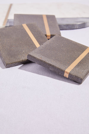 Cement with Gold Inlay Coaster - P I C N I C