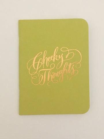 Cheeky Thought Gold Foil Notebook