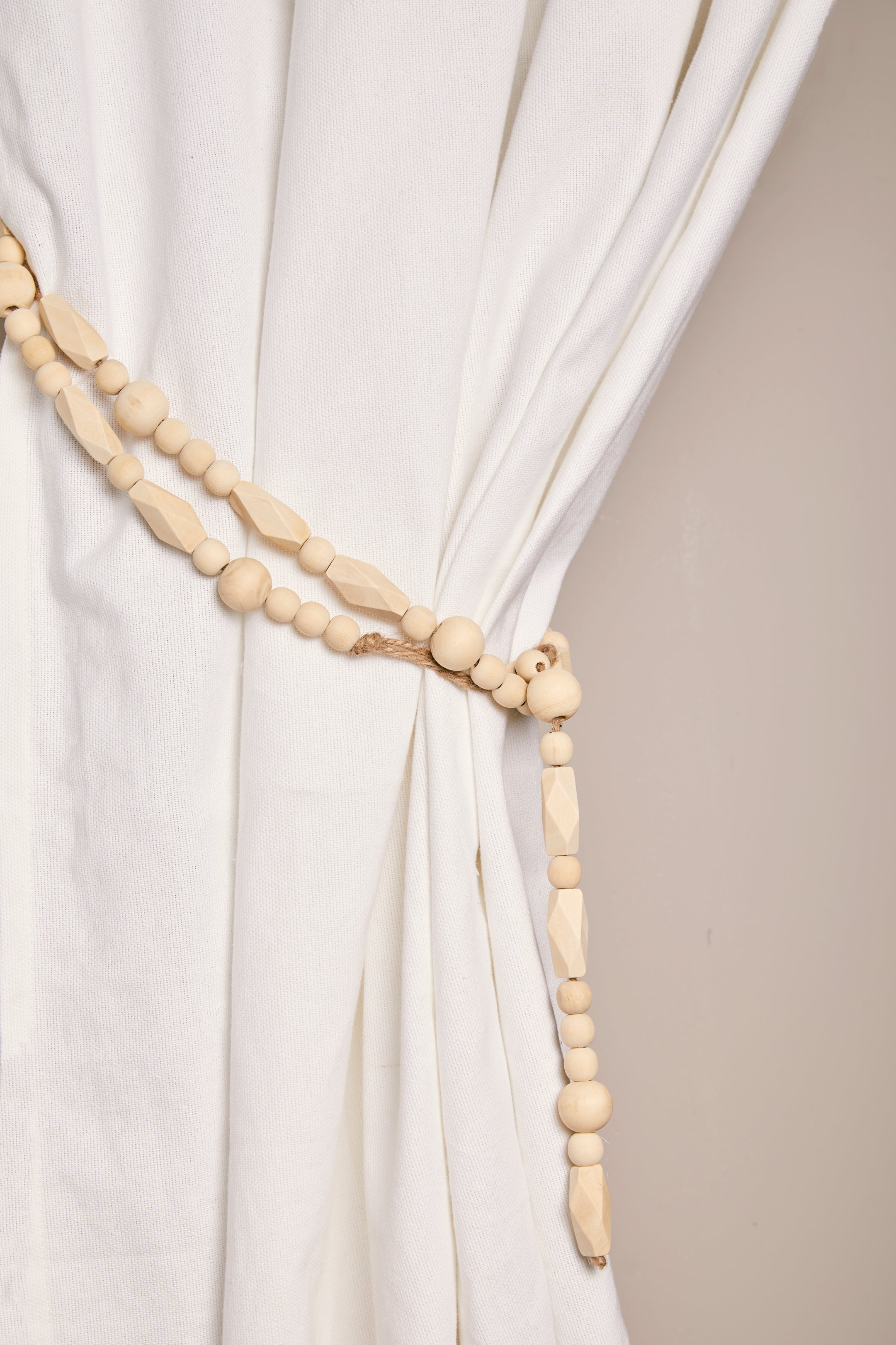 Paulownia Wood Bead Garland - picnic-sf