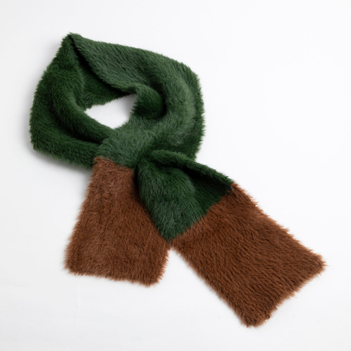 Furry Two-Tone Pull Through Scarf- Picnic SF