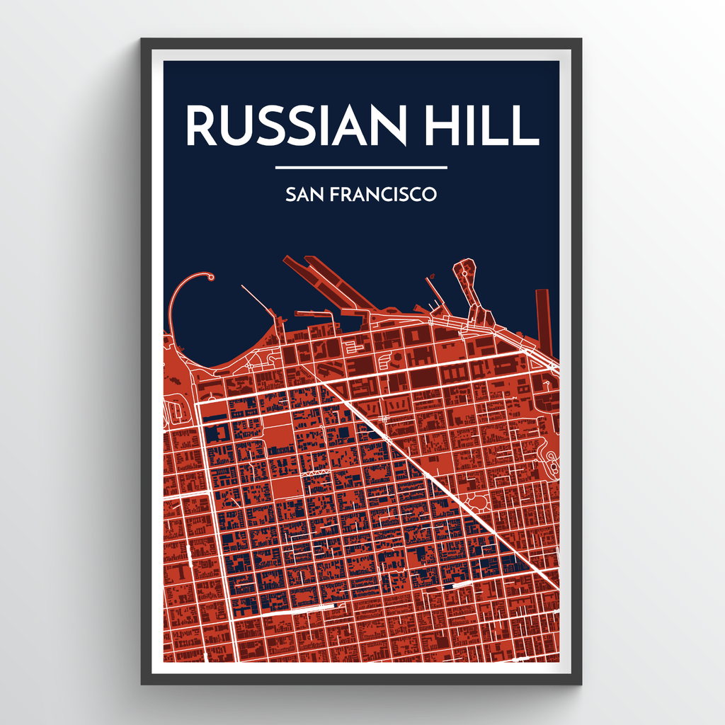 San Francisco Russian Hill Map-Picnic-sf