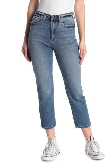 Worker Blue High Rice Cropped Mom Jeans-Picnic-sf