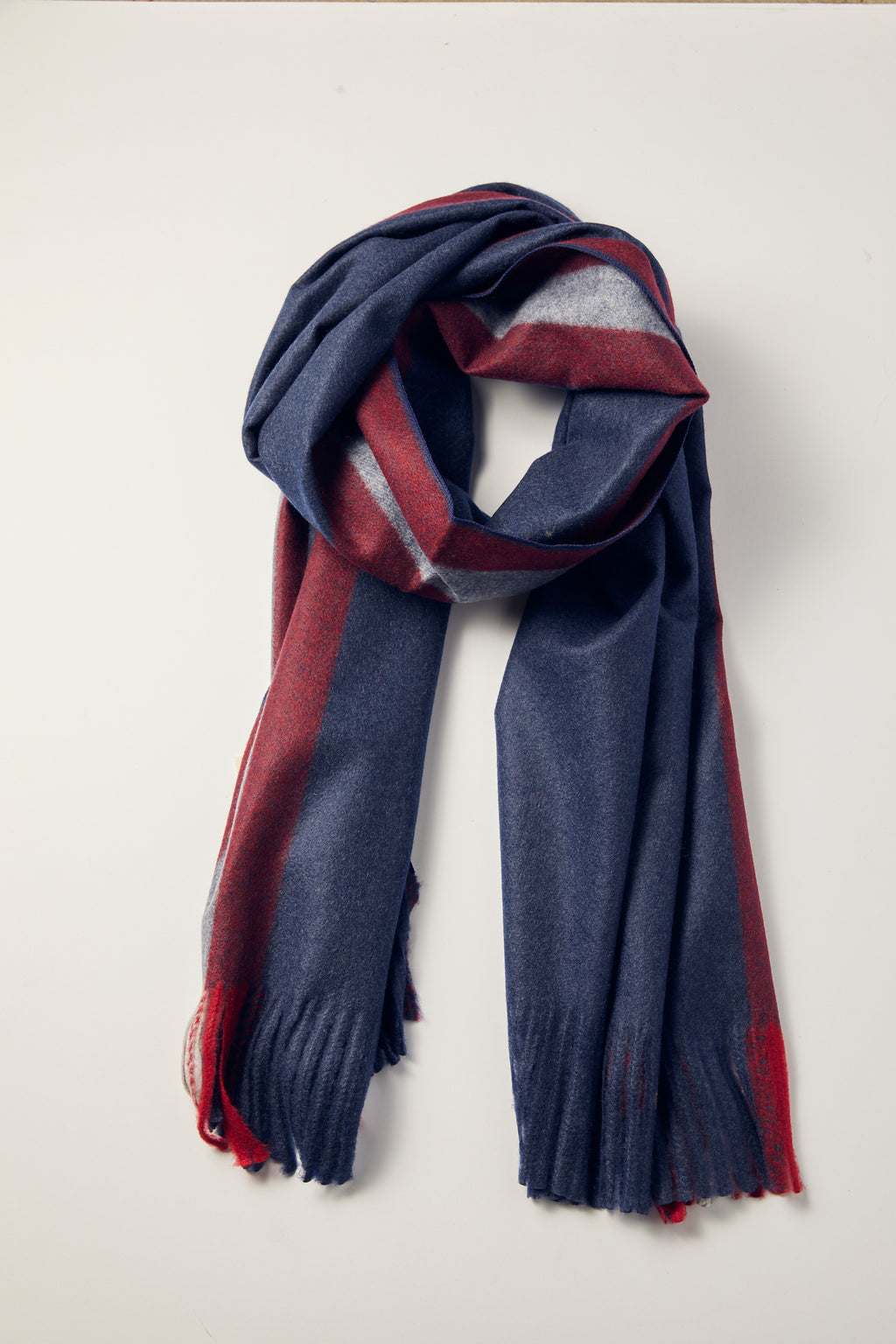 Navy Snow Clouds Scarf