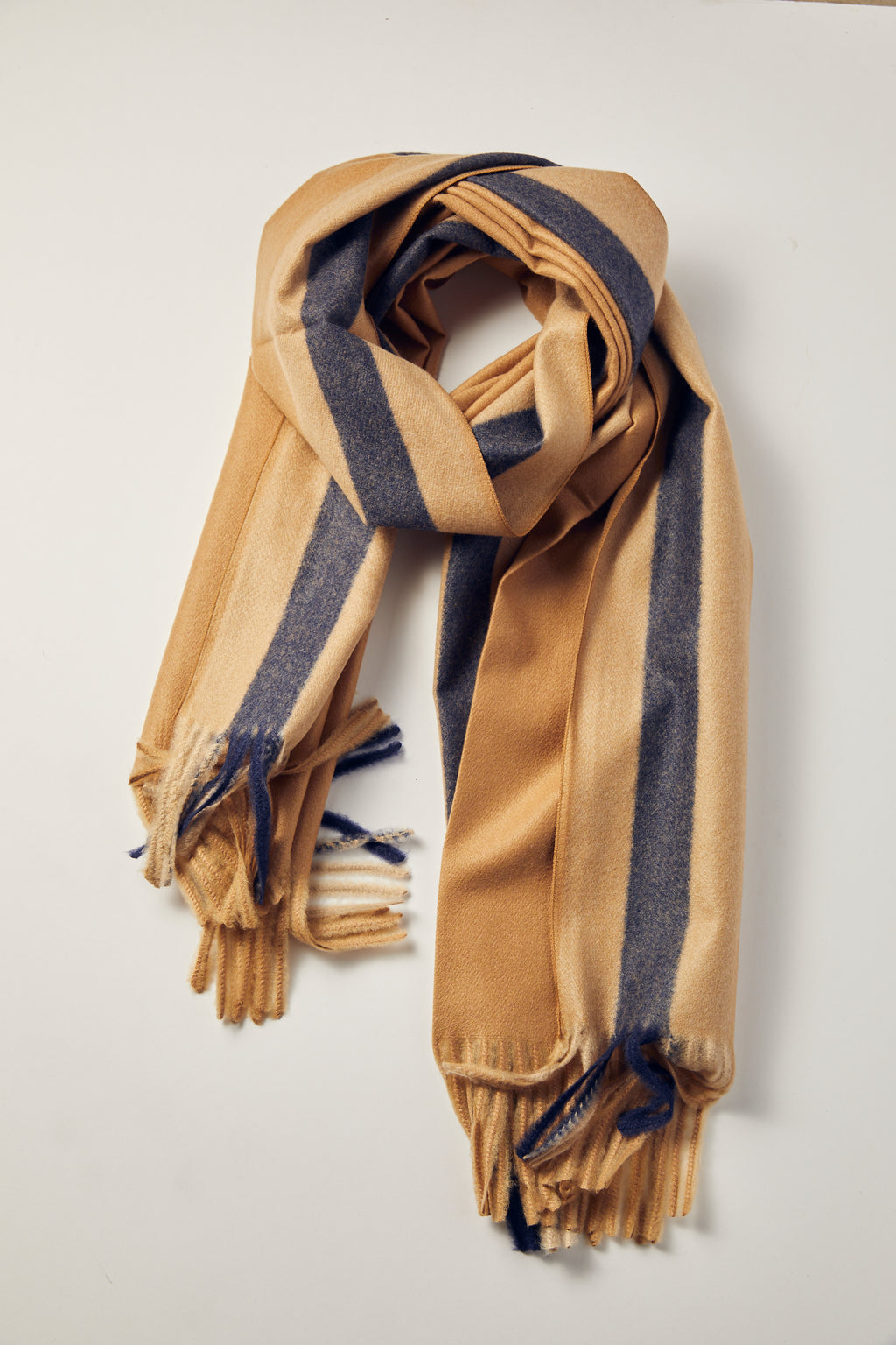 Camel  Snow Clouds Scarf