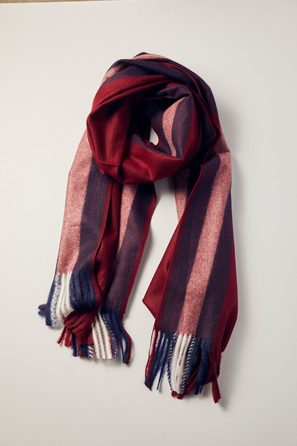 Burgundy Snow Clouds Scarf