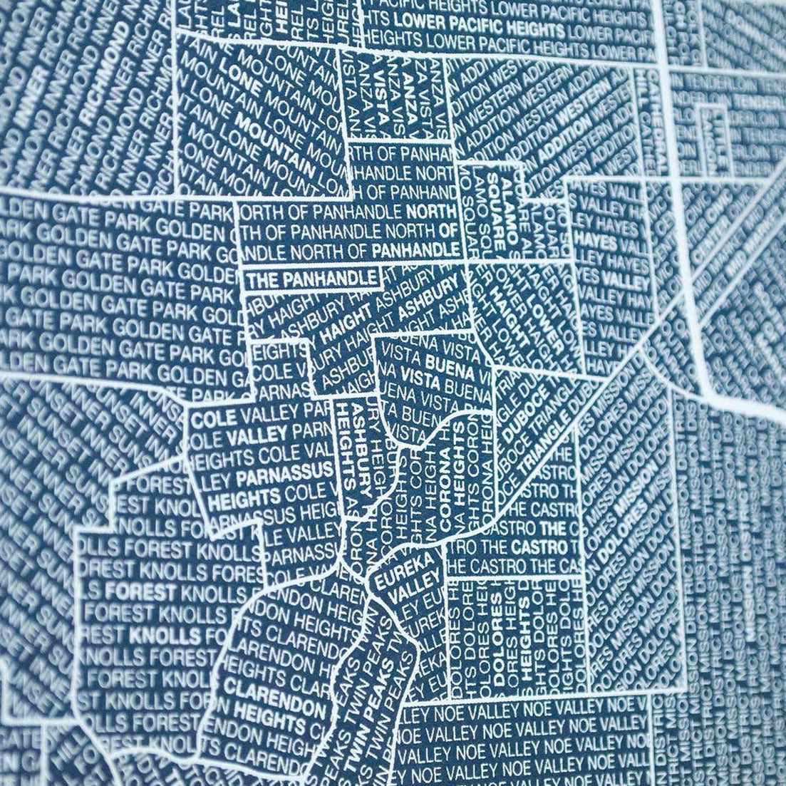 Close up to San Francisco print