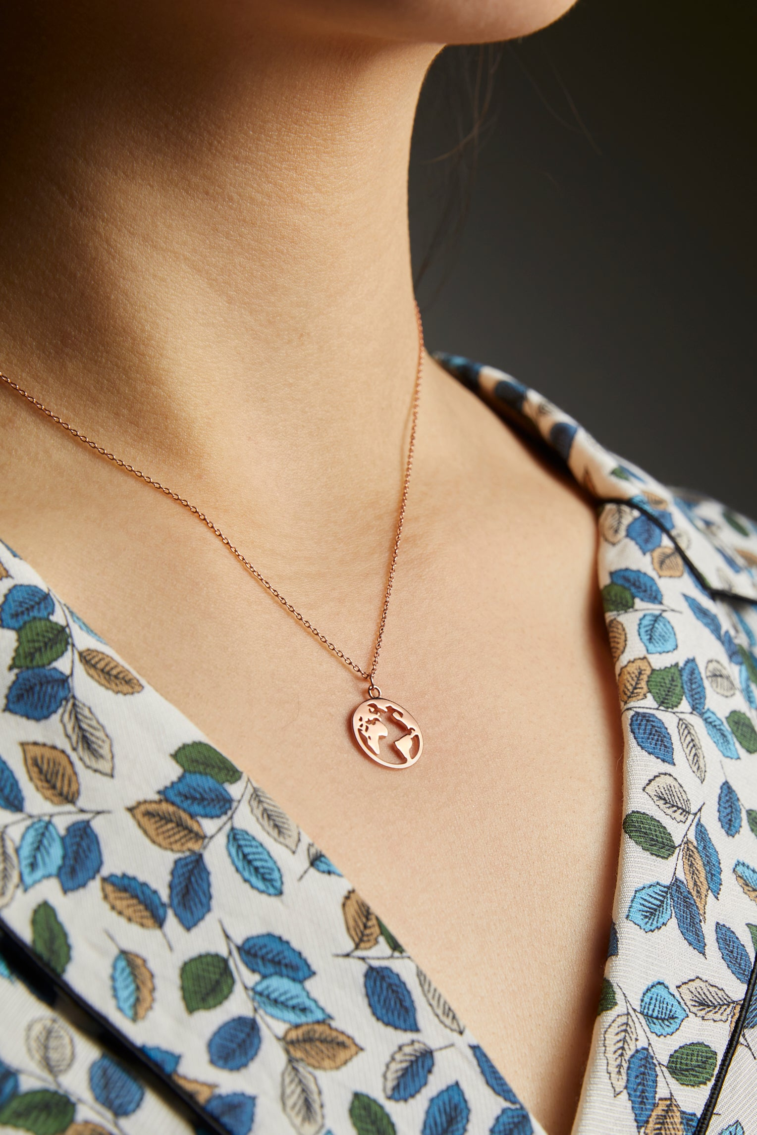 Globe Map Necklace - picnic-sf