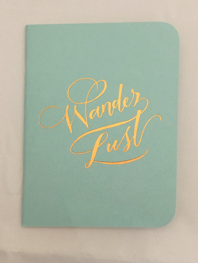 Wander Lust Gold Foil Notebook