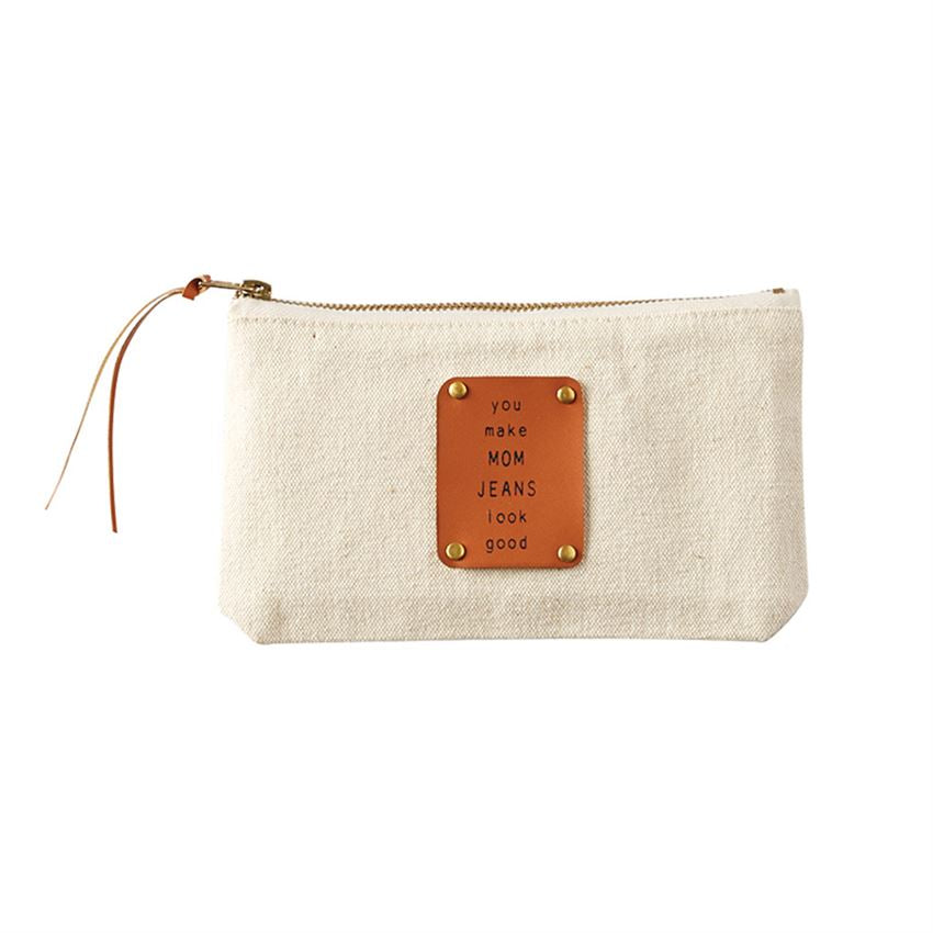 Mom Jeans Mom Canvas & Leather Pouch-Picnic-sf