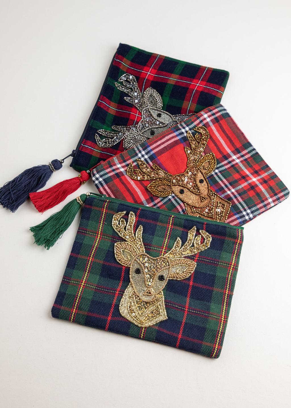 Plaid Deer Pouch-Picnic-sf