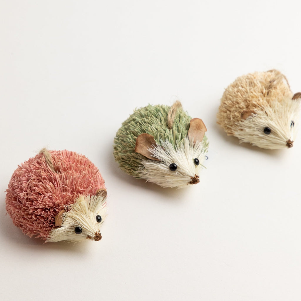 Wood & Sisal Hedgehog Ornament-Picnic-sf