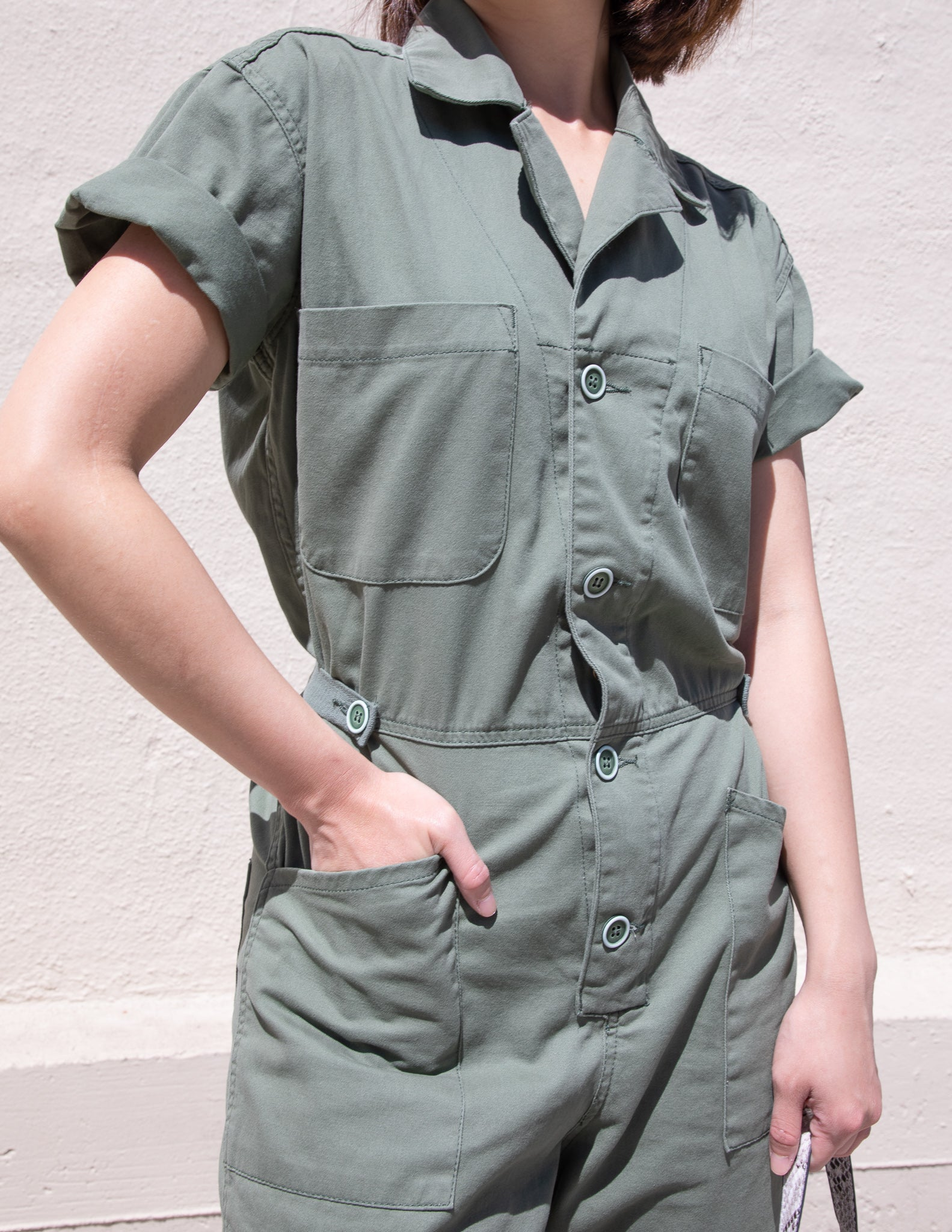 Grover Field Button Front Jumpsuit - picnic-sf
