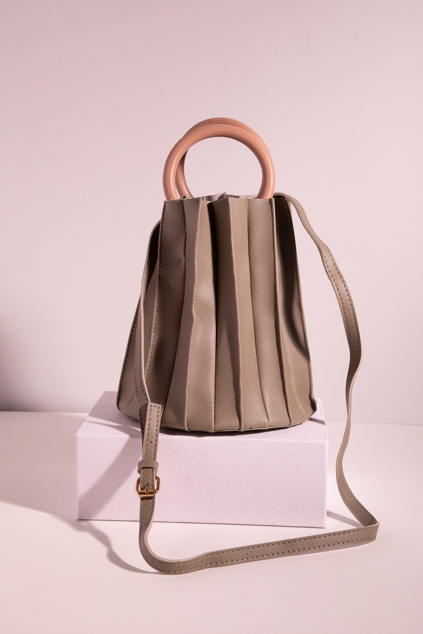 June Pleated Bucket Bag - picnic-sf