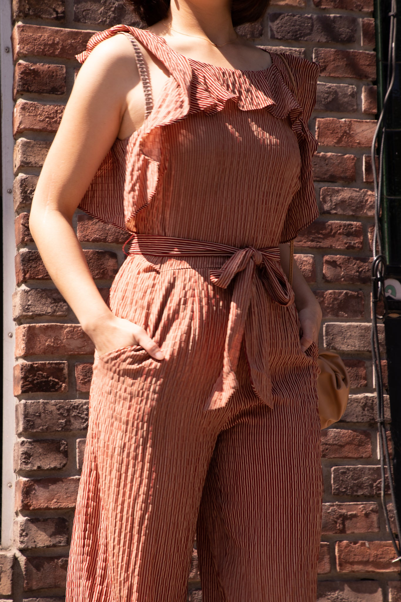 The Carson Ruffle Tie front Jumpsuit - picnic-sf