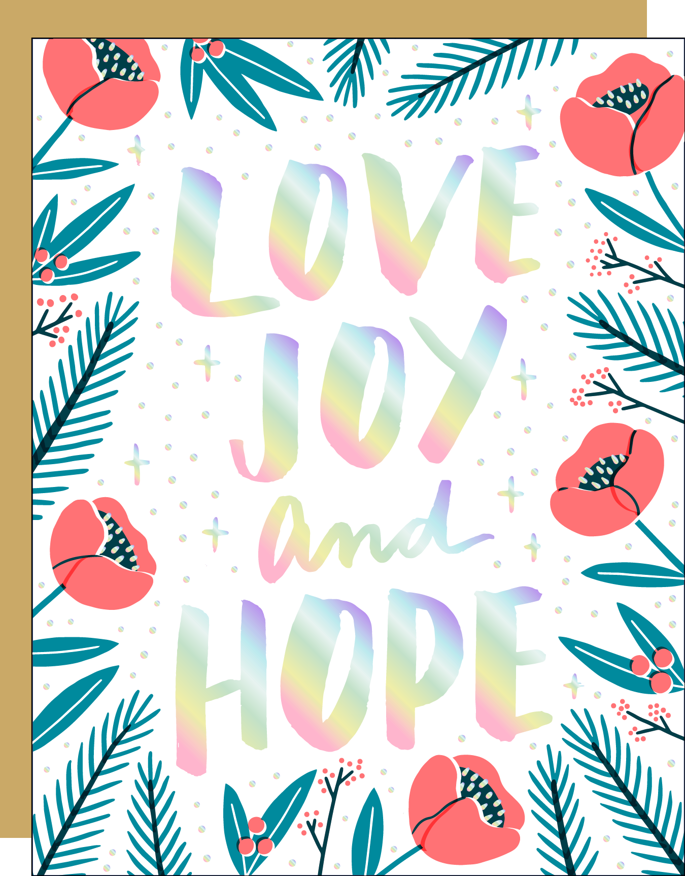 Love, Joy And Hope Holiday Card
